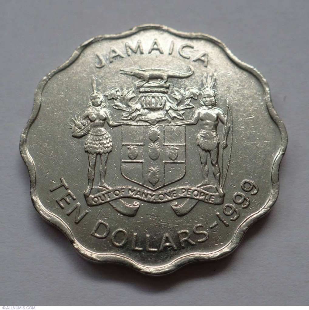10 Dollar Jamaican Coin