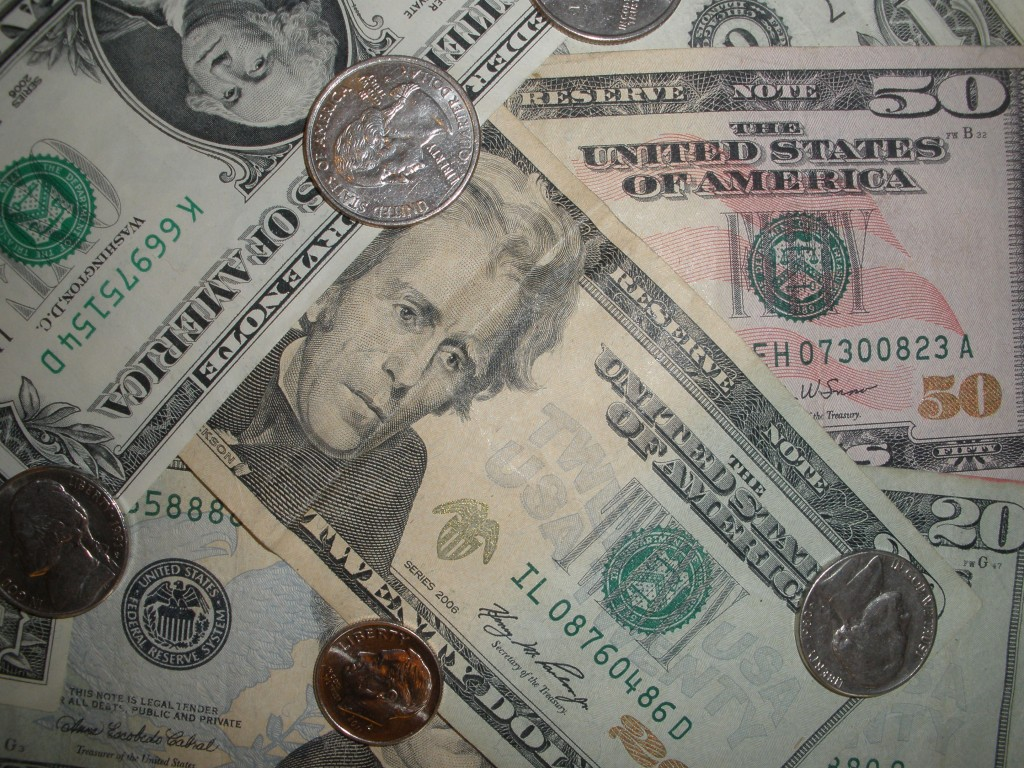 American Bills and Coins Real Picture