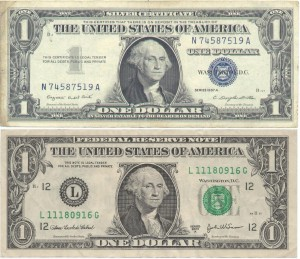 American One Dollar Comparison