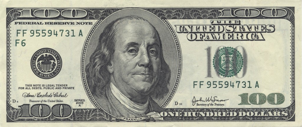 American US 100 Dollar Bill