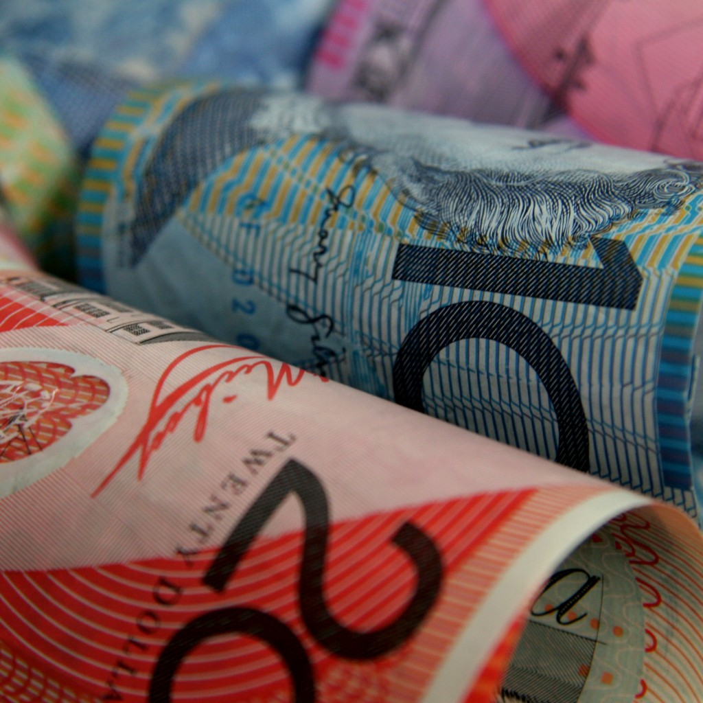Australia Money Rolled