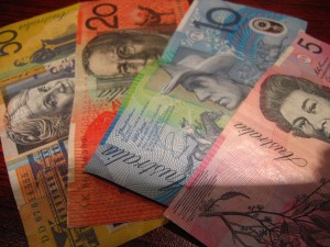 Australian Money on Desk