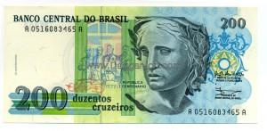 Brazil 200 Cruzeiros