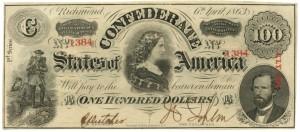 Confederate 100 dollars
