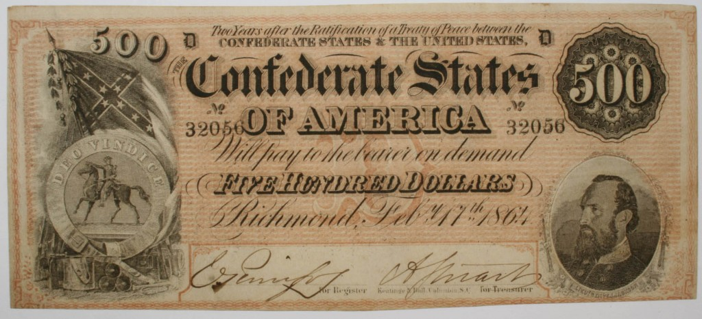 Confederate 500 Dollar Bill
