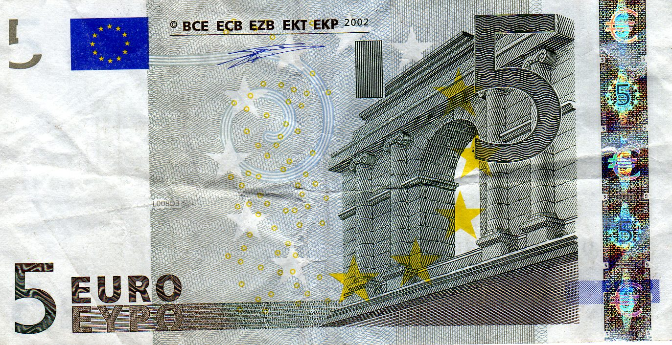 pictures of money awesome pics of money france 5 euro note. Black Bedroom Furniture Sets. Home Design Ideas