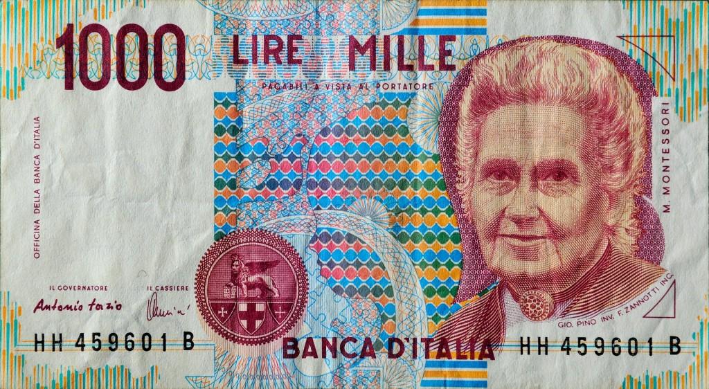 Italian Money Close Up