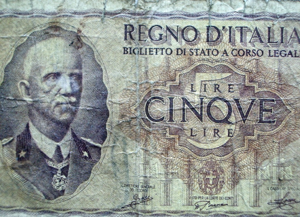 Old Italian Money From World War 2