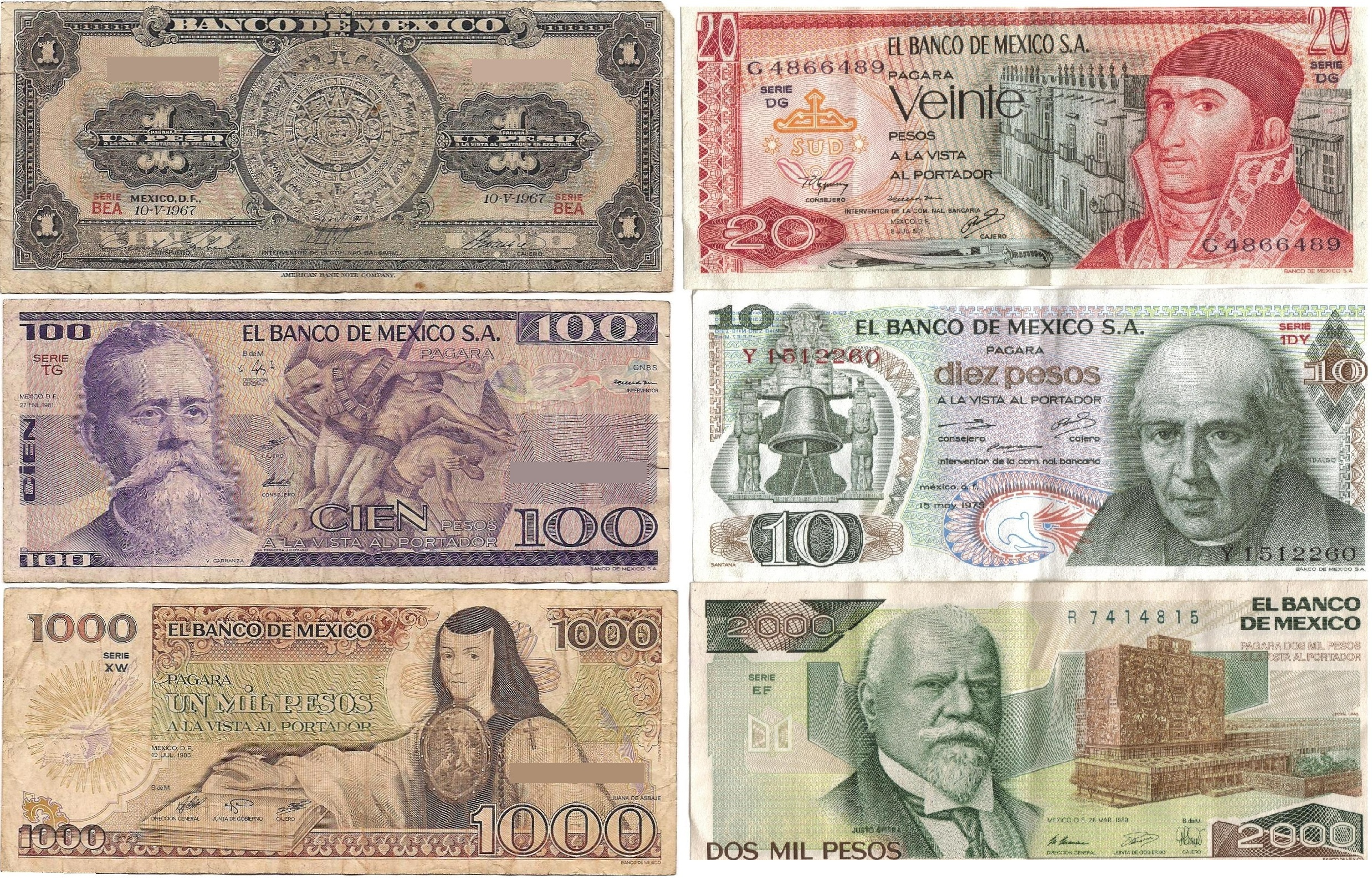 Mexican Currency Pictures 70
