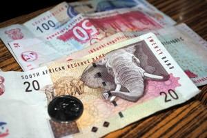 Real Picture of South African Rand Money
