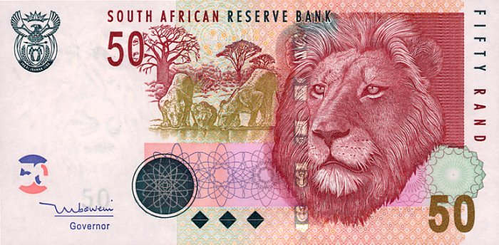 South African Fifty Rand-Note