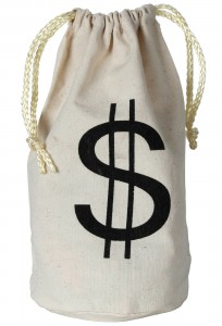 Tall Money Bag