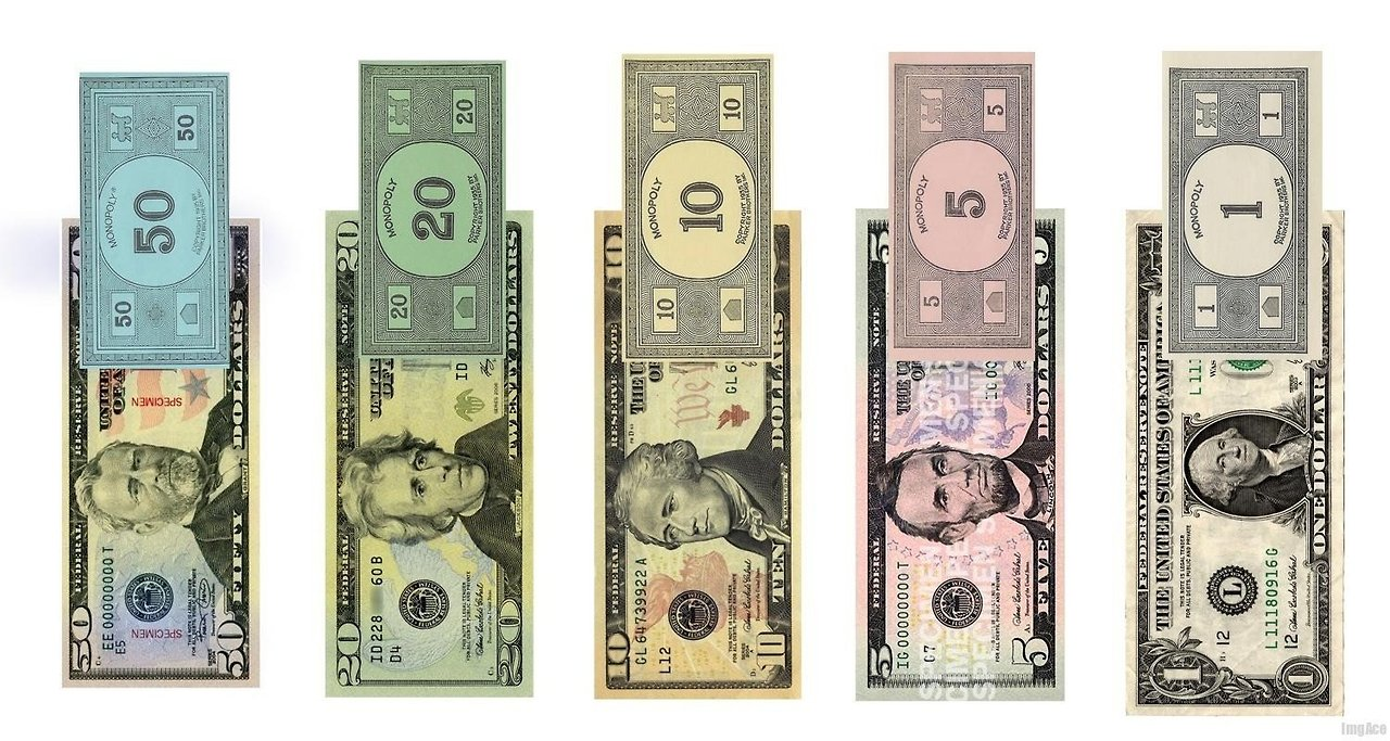 American Monopoly Money Comparison