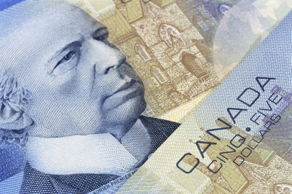 Canadian Five Dollar Close Up