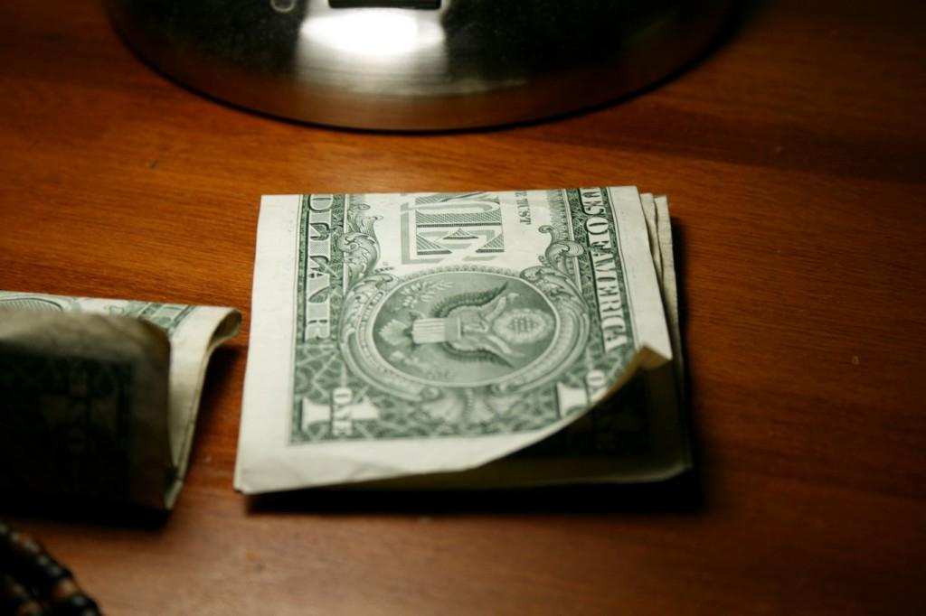 Cash on the dresser