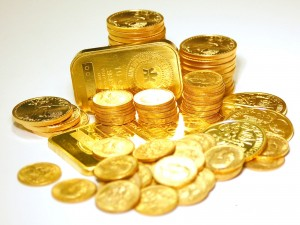 Gold Coins and Bar