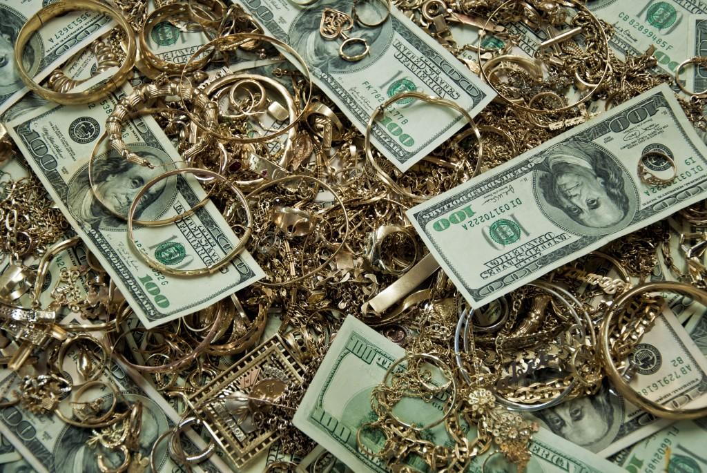 Hundred Dollar Bills and Gold