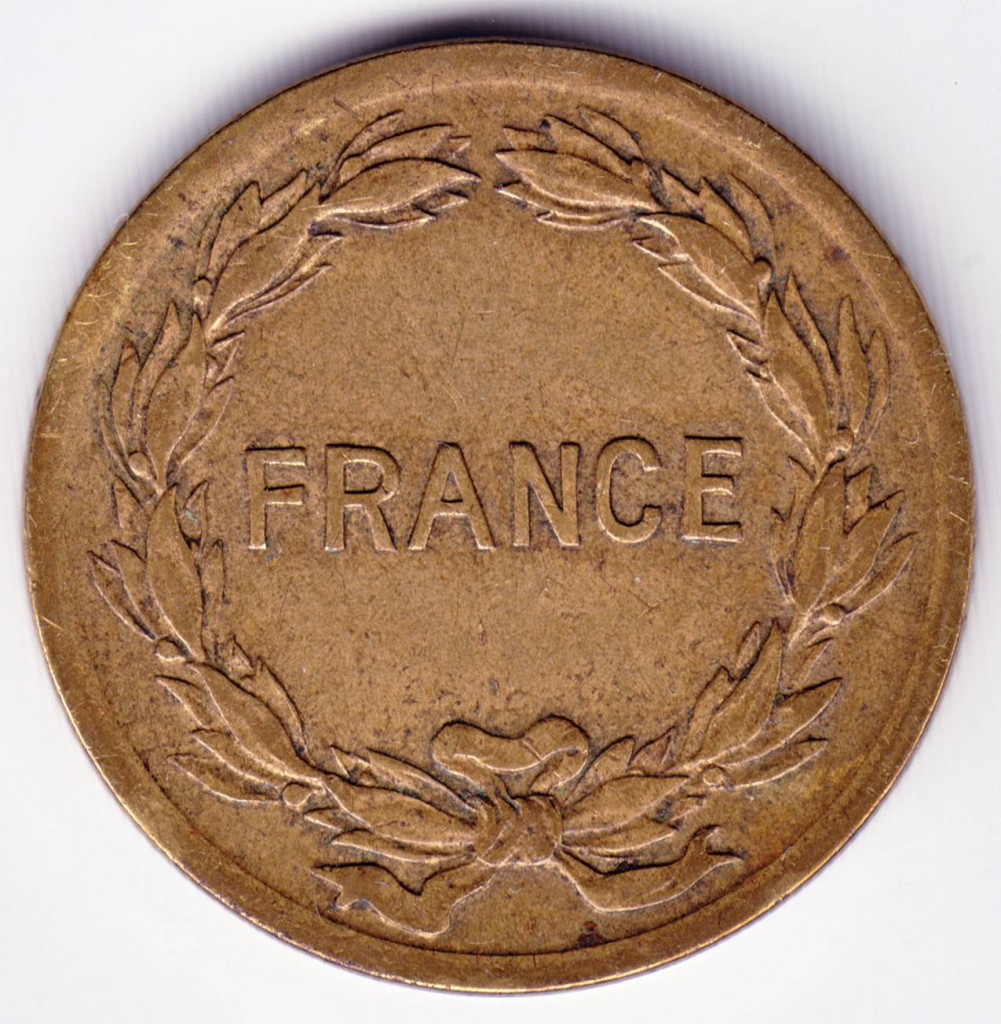 Old French Coin, 2 Francs