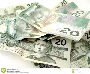 Canadian Money Pile